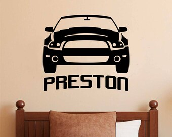 Custom of writing letter decals for cars