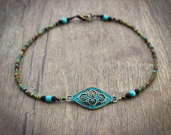 Womens Beaded Anklet