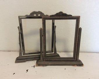 Two Vintage Wood Swing Frames