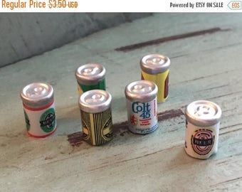 LD SALE Miniature Beer Cans, Dollhouse Miniatures, 1:12 Scale, Dollhouse Food, Miniature Drinks, Dollhouse Accessory, Mini Cans