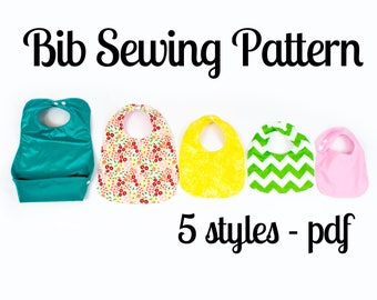 Bib Pattern | 5 styles for baby