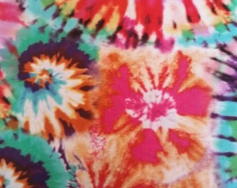 Multi Color Tie Dye by Brother Sister Design Studio, 100% Cotton Fabric by the Yard, Quilt Fabric, Apparel Fabric, Home Decor Fabric, Crafts