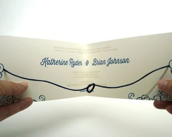 Modern Help Us Tie the Knot Literally Wedding Invitation