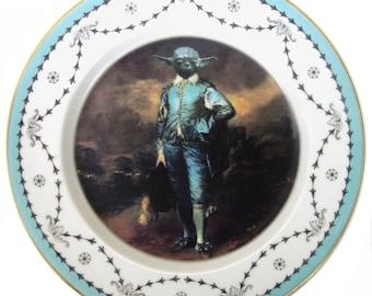 "Blue Yoda Portrait Plate 7.75"""