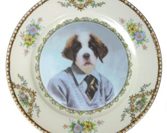 "Bernard, School Portrait Plate 7.65"""