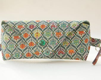 NEW Glasses case/ Eyeglass case/ sunglasses case/ reading glasses case/Liberty fabric/geometric pattern