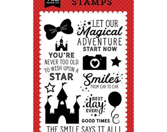 Echo Park Magic and Wonder 4x6 Stamp set - Smiles From Ear To Ear