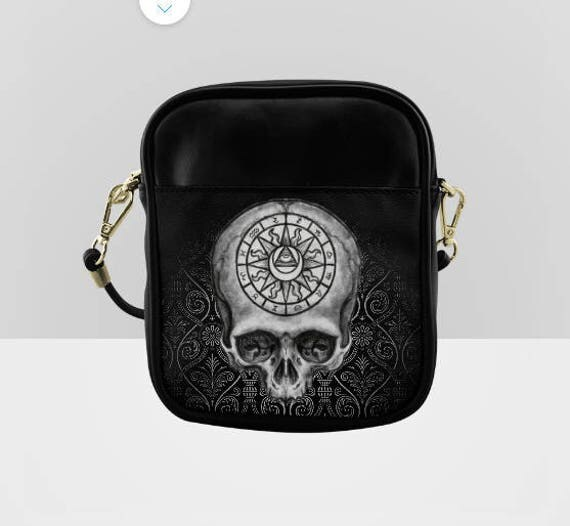Astrology Skull shoulder sling purse