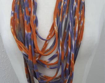 Upcylced T-shirt Scarf/ Necklace