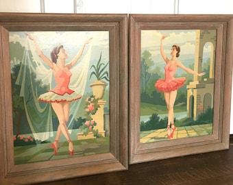 Pair of Mid Century Modern Dancer Paintings