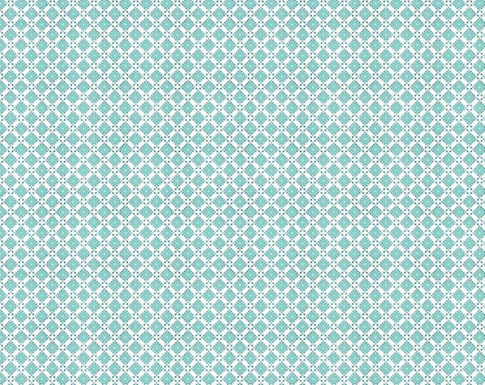 Dainty Darling Fabric by Lindsay Wilkes from The Cottage Mama for Riley Blake Designs and Penny Rose Fabrics - Blue Geometric
