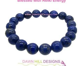 Lapis Lazuli Bracelet Lapis Bracelet Yoga Bracelet Mala Bracelet Crystal Healing Bracelet Mens Jewelry His Hers Bracelets Stacking Bracelet
