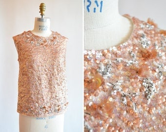 Vintage 1960s BEADED evening shell