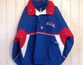 Vintage 90s Buffalo Bills NFL Football Pullover Starter Jacket Coat Mens XL