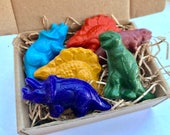 Dinosaur CRAYONS, Handmade Natural Soy Coloring Crayons, Dinosaur Gift, Gift for Kids, Dinosaur, Party Favor, Kids Gift, Stocking Stuffer