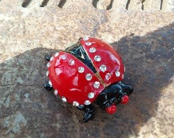 Enamel trinket box collectible Ladybug