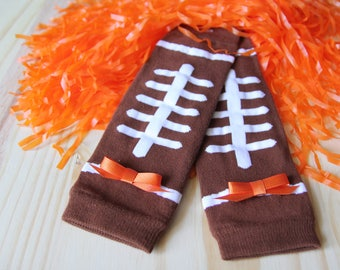 6-12M Football Leg Warmers, with or without bows