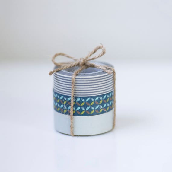 Washi Tape - Gray & Blue Trio | blue tape, gray tape,  planner sticker tape,  Deco Paper Tape, tape set, scrapbook, invitation stickers