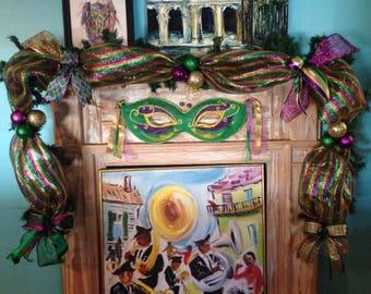 New Orleans Mardi Gras Garland 9 ft