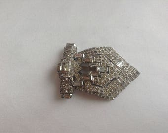 Diamonte Dress Clip, 1940s/50s Dress Clips