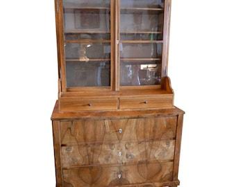 Late 1800s Biedermeier Cabinet from Switzerland, Completely Restored