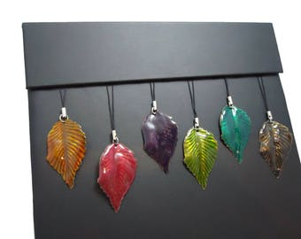 Large Leaf Sparkly Purse Charms, Fun Gift for Girlfriends and Daughters Stocking Stuffers