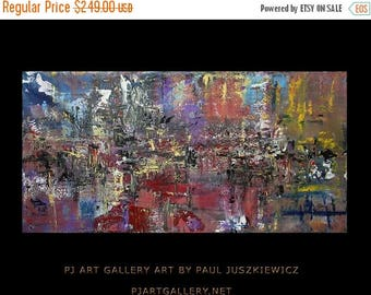 17% OFF /ONE WEEK Only/ Color  Impact abstract knife by Paul Juszkiewicz red blue unique