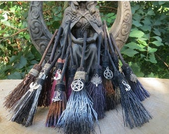 20% OFF Altar Broom, MINI Witches Altar  Broom, Travelling Protection, Mini Broom for Small Altar,  Witchcraft, Wicca, Rear View Mirror Witc