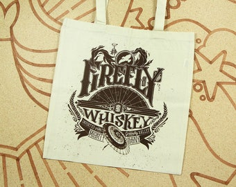 Firefly Tote Bag // Serenity Bag // Hand Screen Printed Cotton Bag