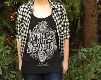 What We Do In The Shadows Tank Top | Women's Werewolves Not Swearwolves Tank Top | Hand Screen Printed What We Do In The Shadows Tanktop