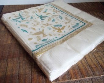 Package of 20 Vintage Georges Briard Contempo Paper Dinner Napkins Bird Design