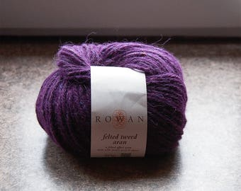 PLUM - 10 skeins Rowan Felted Tweed Aran, Knitting Wool, Tweed Yarn, Purple Yarn, Winter Yarn, Handknitting Yarn, Quality Yarn, Plum Yarn
