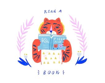 Creatures of Healthy Habits tiger reading Book by Sarah Walsh