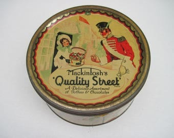 Mackintosh's Quality Street Tin, Vintage Chocolate Tin