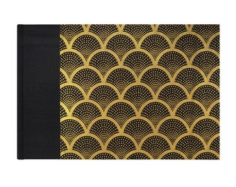 Guestbook Classic Deco Fan Black and Gold