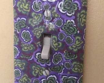 Marple Swirl Switchplate . Polymer Clay Cane