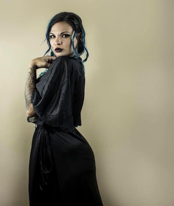 Black Vintage Housecoat