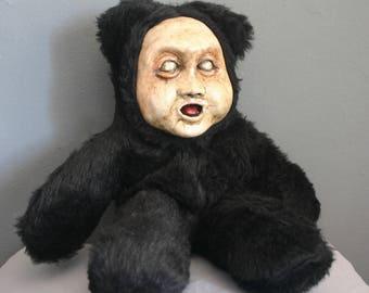 Stuffed Animal Original Handmade Creepy Teddy Bear