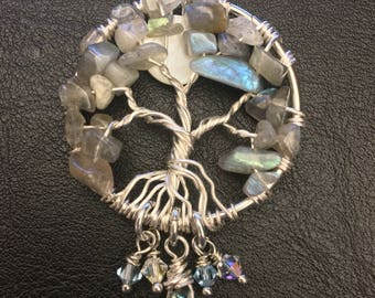 Labradorite Tree of Life pendant/necklace