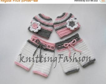 15 % SALE Newborn Babies Photography Prop Outfits _ Newborn Baby Girls Twin Outfits _ NewBorn Baby Twins Crochet Outfit _ Baby Twins Hospita