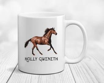 Horse Mug, Horse Coffee Mug, Horse Coffee Cup, Personalized Horse Gift, Horse Rider Mug, Horse Lover Gift, Custom Horse Gift, Custom Horse