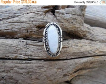 ON SALE Beautiful White Buffalo ring handmade in sterling silver 925