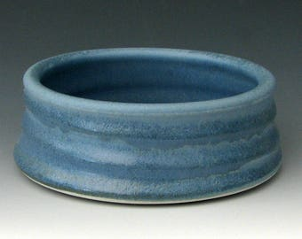 SMALL DOG BOWL #24 - Small Blue Dog Bowl - Blue Cat Bowl - Ceramic Cat Bowl - Ceramic Pet Bowl - Cat Food Bowl - Puppy Bowl - Studio Pottery