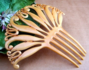 Art Deco hair comb, French Ivory Spanish style hair accessory, hair ornament, hair jewelry decorative comb