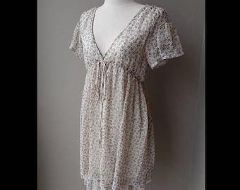 ON SALE Gyaru Lovely Floral Chiffon Spring Summer Dress Size 8 Bust 34