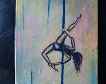 Allegra - Original Painting of a Pole Dancer