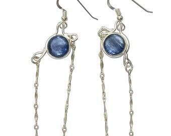 Kyanite Earrings set in sterling silver  ekyaf2834