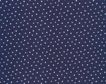 Organic KNIT Fabric - Cloud9 2017 Knits - Dots Navy