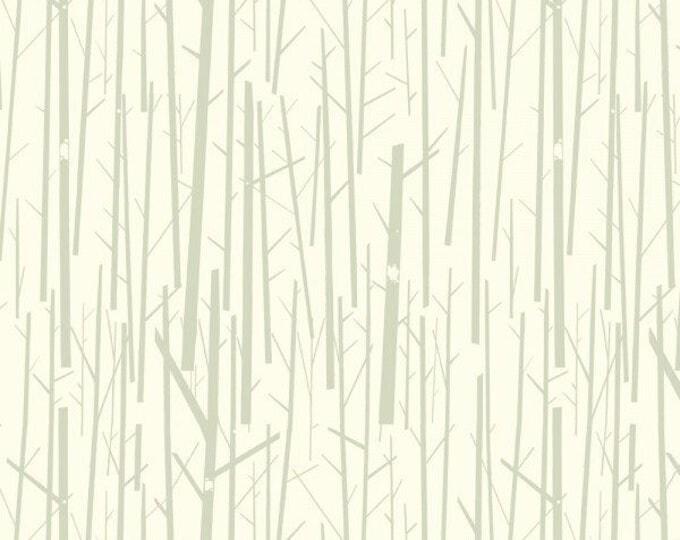 Organic KNIT Fabric - Charley Harper Western Birds - Perch Cream Knit