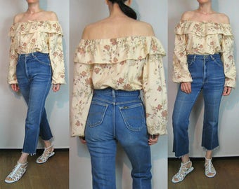 70s Lee Frayed Hem Flared Jeans / 70s Cropped Jeans / Cut Off Hem Jeans / 70s Faded Dark Wash Lee Jeans